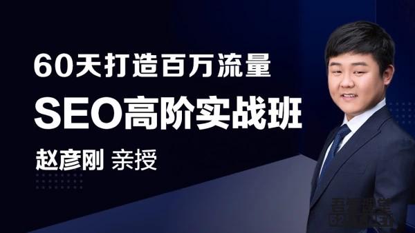 赵彦刚60天轻松学会如何打造百万SEO流量实操!