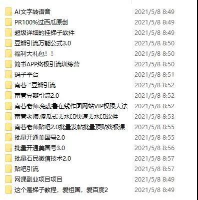 南巷网创副业联盟全套引流课程4.jpg