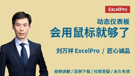 刘万祥《Excel商业仪表板课程》交互式数据分析仪表板